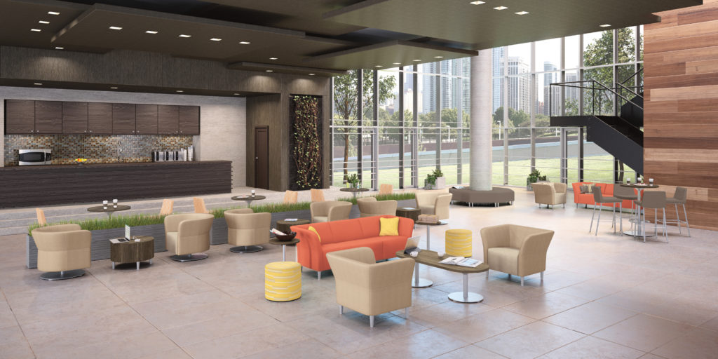 Office tables and chairs for hotels