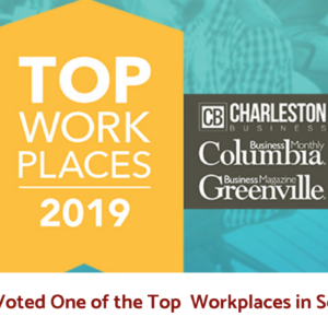 Voted One of the Top Workplaces in South Carolina