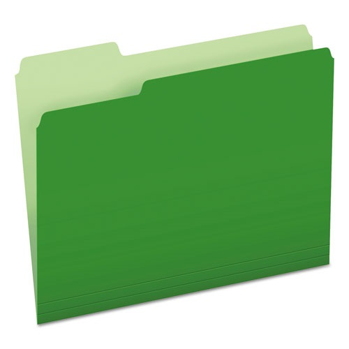 Green filing folder with tab from GOS
